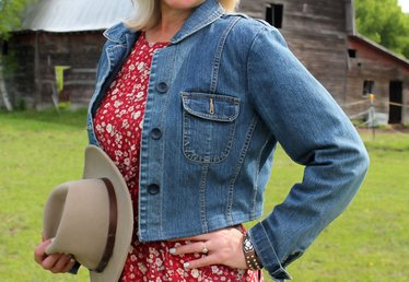Get Rodeo-Ready with a DIY Cropped Denim Jacket