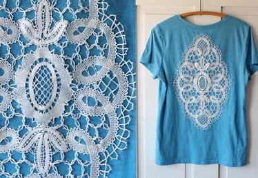 Summer DIY T-Shirt Series: Add a Crocheted Doily