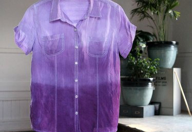 Make Your Own Dip Dyed Ombre Shirt