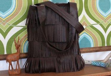 Make Your Own Leather Fringe Bag