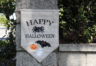 DIY Halloween Banner with Spooky Appliqués