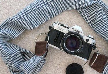 DIY Winter Scarf Camera Strap