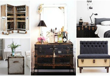 5 Clever Ways to Rework Vintage Trunks Into Functional Décor