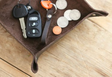 Make This Leather Catch-All Tray (and Keep Your Keys, Coins and Clutter Contained)