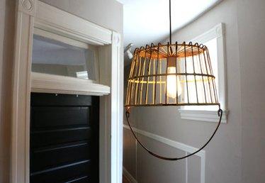 How to Turn an Antique Basket into a Unique Pendant Light