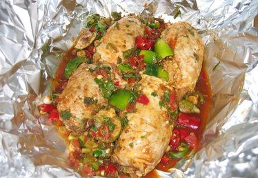 How to Make Foil Wrapped Salsa Chicken
