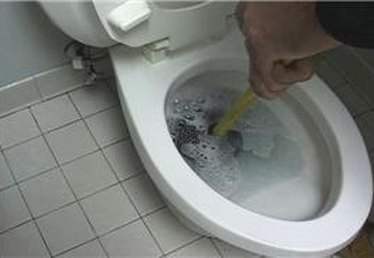 Using a Plunger on a Toilet