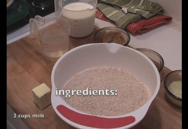Ingredients for Whole Wheat Bread Recipe