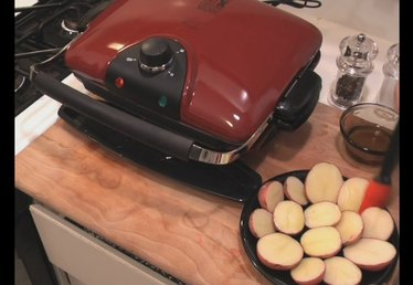 Cooking Potatoes On The George Foreman Grill
