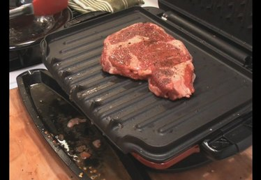 Cooking Ribeye Steak On The George Foreman Grill