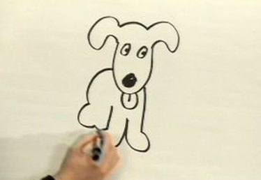 How to Draw a Cartoon Dog