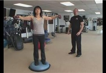 BOSU Ball Shoulder Exercise With Dumbbells