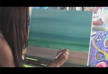 How to Paint a Beach
