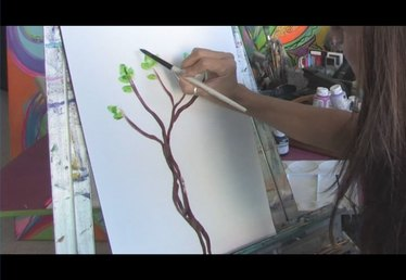 Acrylic Painting Techniques : How to Paint Trees