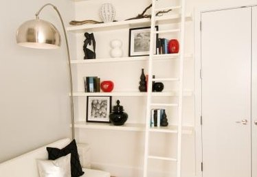 How to Decorate Ladder Shelves