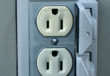 How to Run an Electrical Outlet Into the Yard