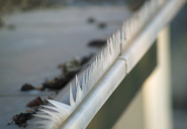 How to Fix a Dent in an Eaves Trough