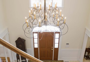 How to Hang a Chandelier From a Sloped Ceiling