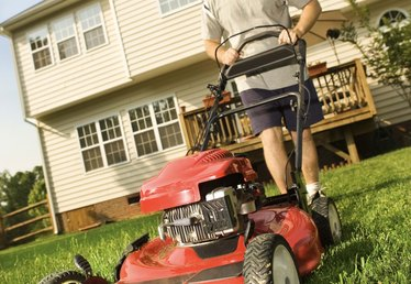 What Is the Difference Between a Mulching Mower & a Lawn Mower?