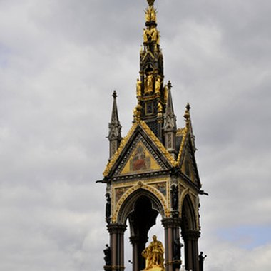 The Albert Memorial is a landmark in Kensington Gardens.