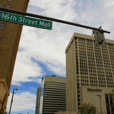 The 16th Street Mall is in downtown Denver.