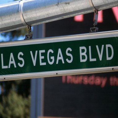 Las Vegas Boulevard, also known as the Strip.