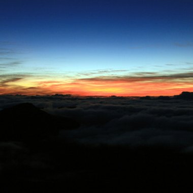 Sunrise at Haleakala crater is a memorable experience.