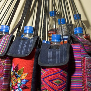 Brilliantly-colored Guatemalan handicrafts
