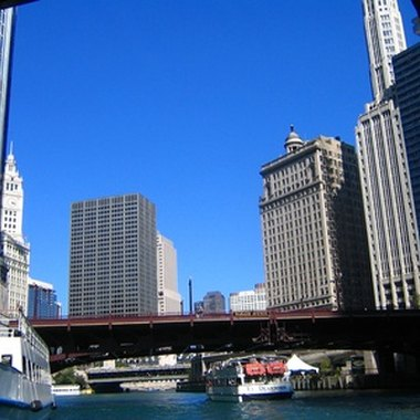 A view of downtown Chicago from the Chicago River
