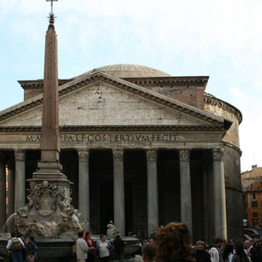A view of the Pantheon in Rome from Piazza della Rotonda