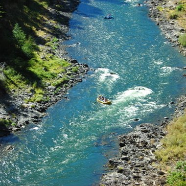The Rogue River runs through Jackson County, Oregon.