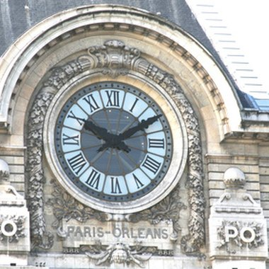 Most Parisian train stations are crowned with century-old clocks.