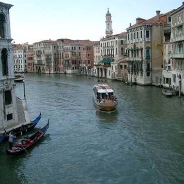 A view of the Canal Grande in Venice