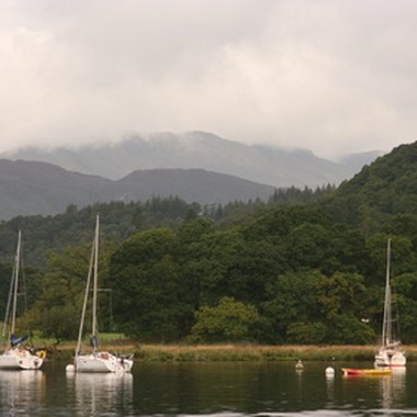 Part of the shore of Windermere, the largest lake in England