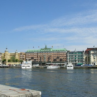 Waterways wind their way through much of Sweden's capital.