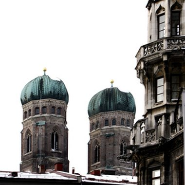 A view of the Frauenkirche Cathedral in Munich