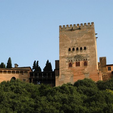 The Alhambra towers over the city of Granada.