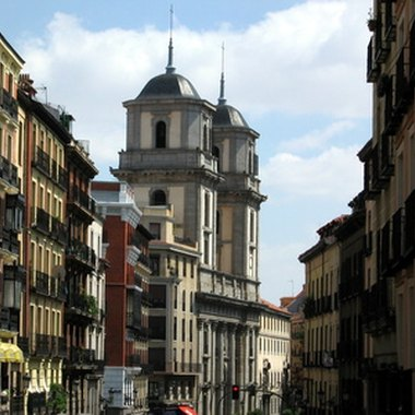 A street view in Madrid's city center