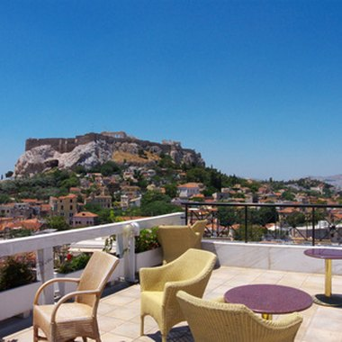 A view of the Acropolis from a hotel