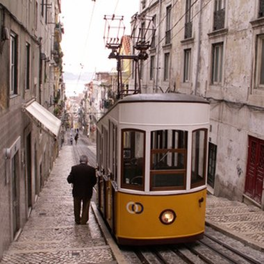The Bica Funicular leads to Lisbon's Barrio Alto.