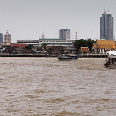 Bangkok's Chao Phraya River is the setting for many hotels.