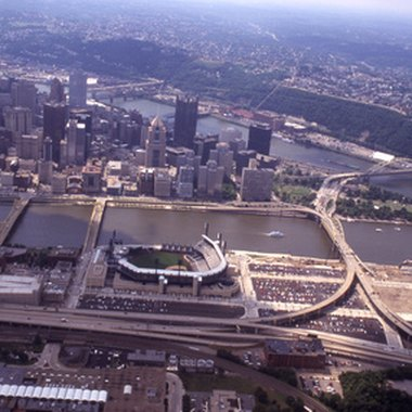 Aerial view of Pittsburgh's North Side
