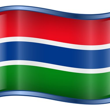 The flag of Gambia