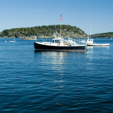 A lobster boat in Bar Harbor
