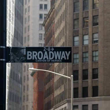 Broadway at Times Square is located in the Theater District.