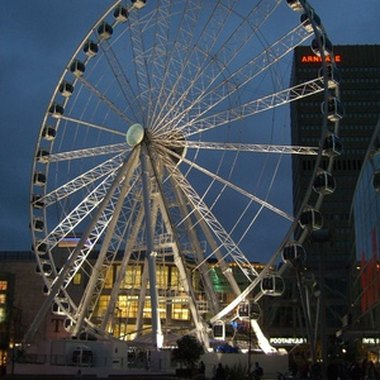 The 180-foot tall Wheel of Manchester is just on the edge of the Piccadilly area.