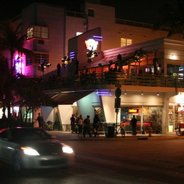Miami Beach nightclubs are scattered throughout the Art Deco District.