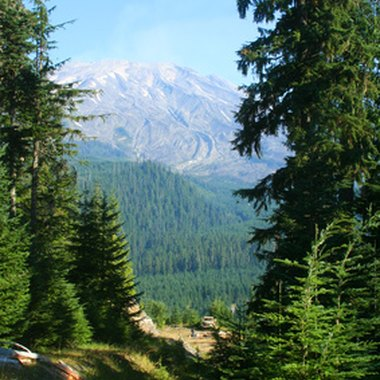 Mount St. Helens is the best-known attraction in the Woodland region.