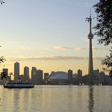 CN Tower dominates Toronto's skyline.