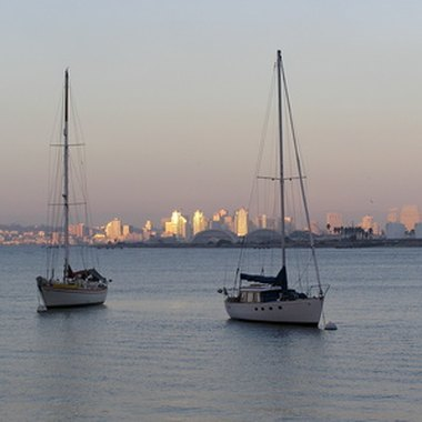 VIsitors can moor off Coronado Island for sunset views to downtown San Diego.